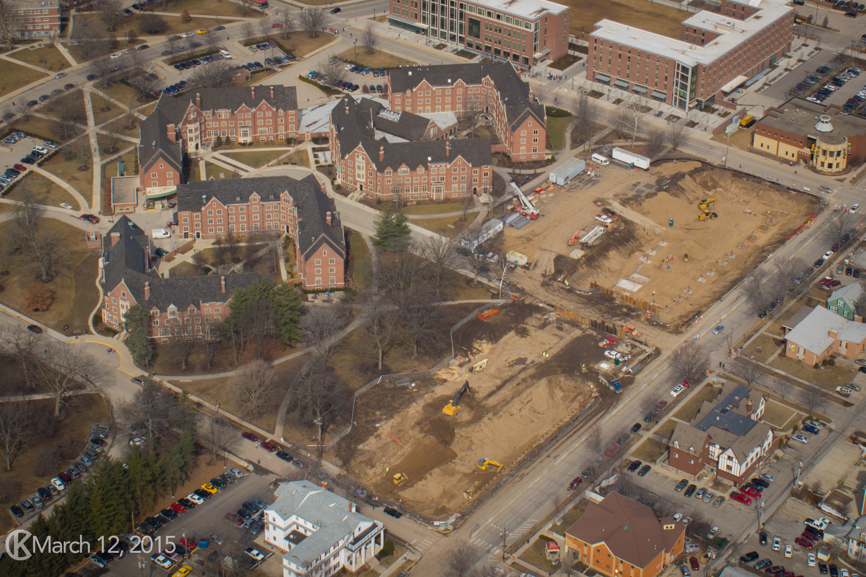 Honors College and Residences construction
